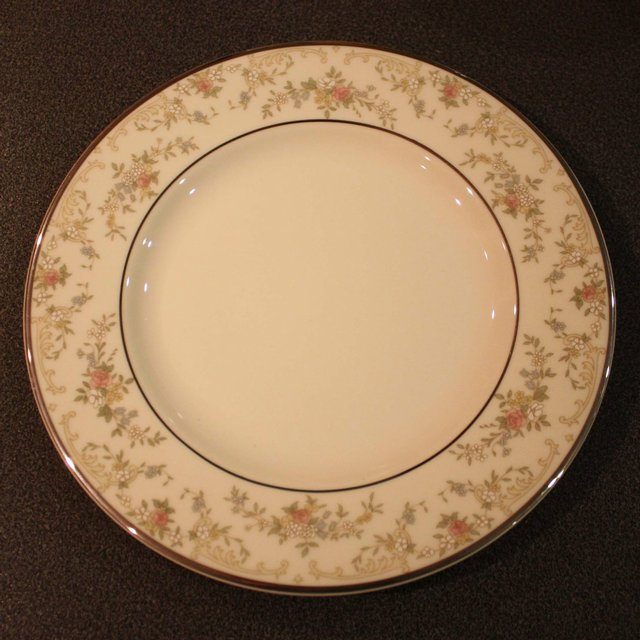 """Preview of the first image of ROYAL DOULTON """"DIANA"""" FINE BONE CHINA TEA PLATES."""
