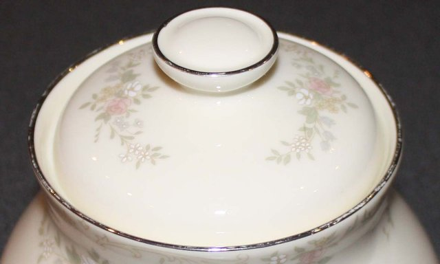 """Preview of the first image of ROYAL DOULTON """"DIANA"""" FINE BONE CHINA SUGAR BOWL WITH LID."""