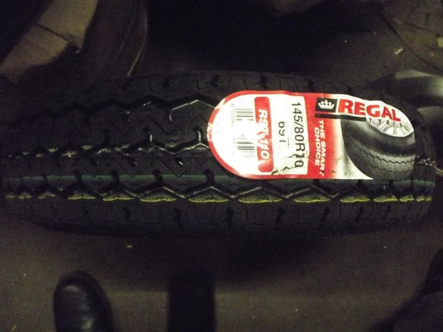 """Image 2 of CLASSIC MINI OR TRAILER 10"""" TYRES NEW 145 10"""