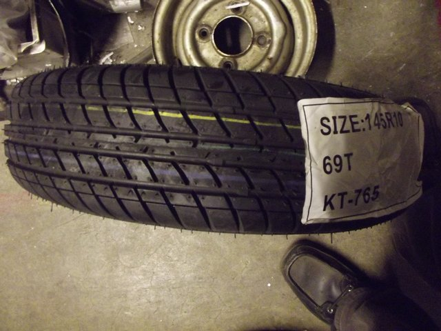 """Image 3 of CLASSIC MINI OR TRAILER 10"""" TYRES NEW 145 10"""