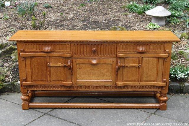 Image 2 of RUPERT NIGEL GRIFFITHS OAK DRESSER BASE SIDEBOARD TABLE