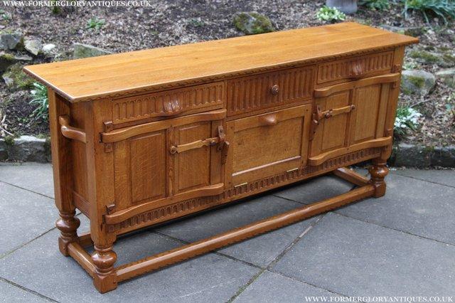 Image 4 of RUPERT NIGEL GRIFFITHS OAK DRESSER BASE SIDEBOARD TABLE