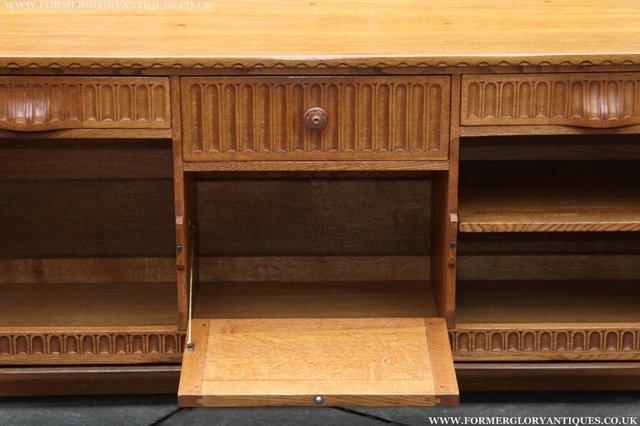 Image 8 of RUPERT NIGEL GRIFFITHS OAK DRESSER BASE SIDEBOARD TABLE