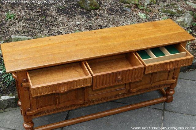 Image 9 of RUPERT NIGEL GRIFFITHS OAK DRESSER BASE SIDEBOARD TABLE