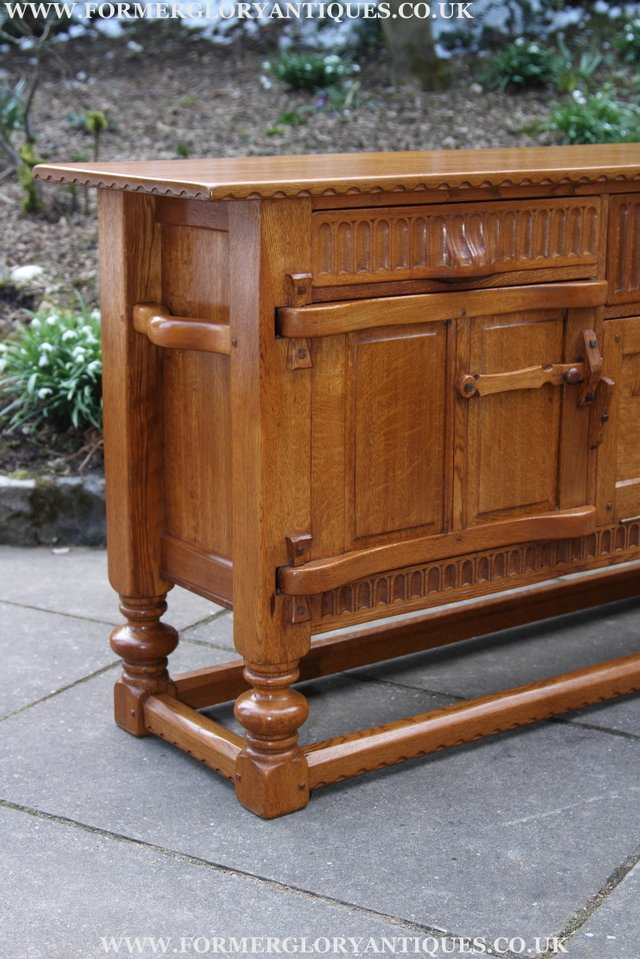 Image 12 of RUPERT NIGEL GRIFFITHS OAK DRESSER BASE SIDEBOARD TABLE