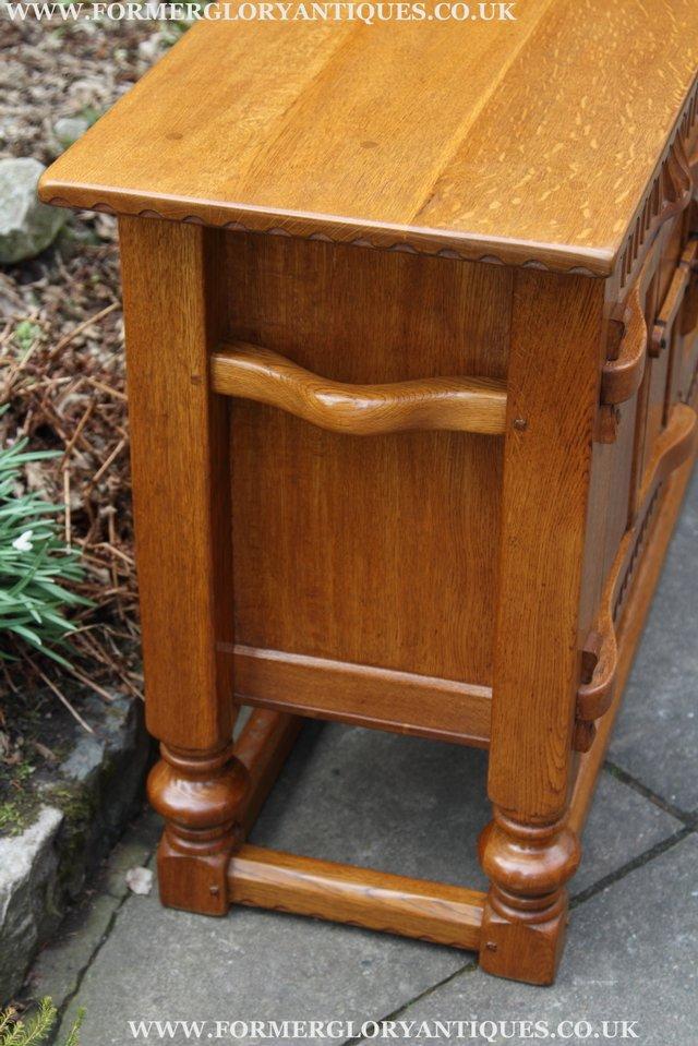 Image 15 of RUPERT NIGEL GRIFFITHS OAK DRESSER BASE SIDEBOARD TABLE