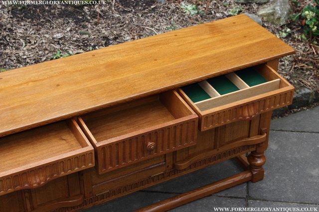 Image 16 of RUPERT NIGEL GRIFFITHS OAK DRESSER BASE SIDEBOARD TABLE