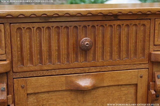 Image 21 of RUPERT NIGEL GRIFFITHS OAK DRESSER BASE SIDEBOARD TABLE