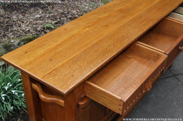 Image 24 of RUPERT NIGEL GRIFFITHS OAK DRESSER BASE SIDEBOARD TABLE