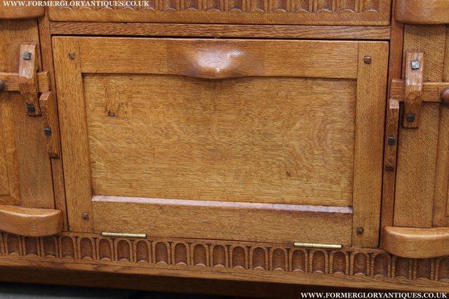 Image 25 of RUPERT NIGEL GRIFFITHS OAK DRESSER BASE SIDEBOARD TABLE