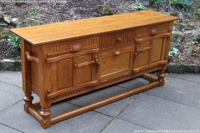 Image 27 of RUPERT NIGEL GRIFFITHS OAK DRESSER BASE SIDEBOARD TABLE