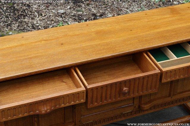 Image 28 of RUPERT NIGEL GRIFFITHS OAK DRESSER BASE SIDEBOARD TABLE