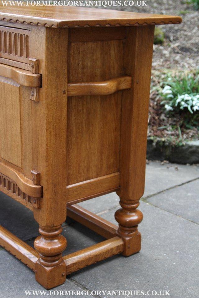 Image 29 of RUPERT NIGEL GRIFFITHS OAK DRESSER BASE SIDEBOARD TABLE