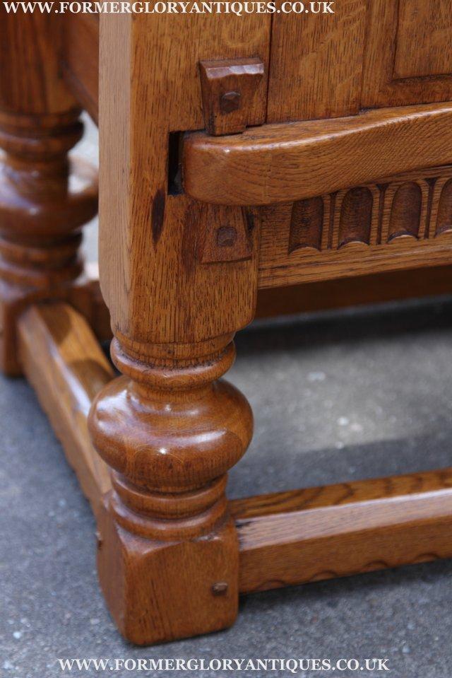 Image 40 of RUPERT NIGEL GRIFFITHS OAK DRESSER BASE SIDEBOARD TABLE