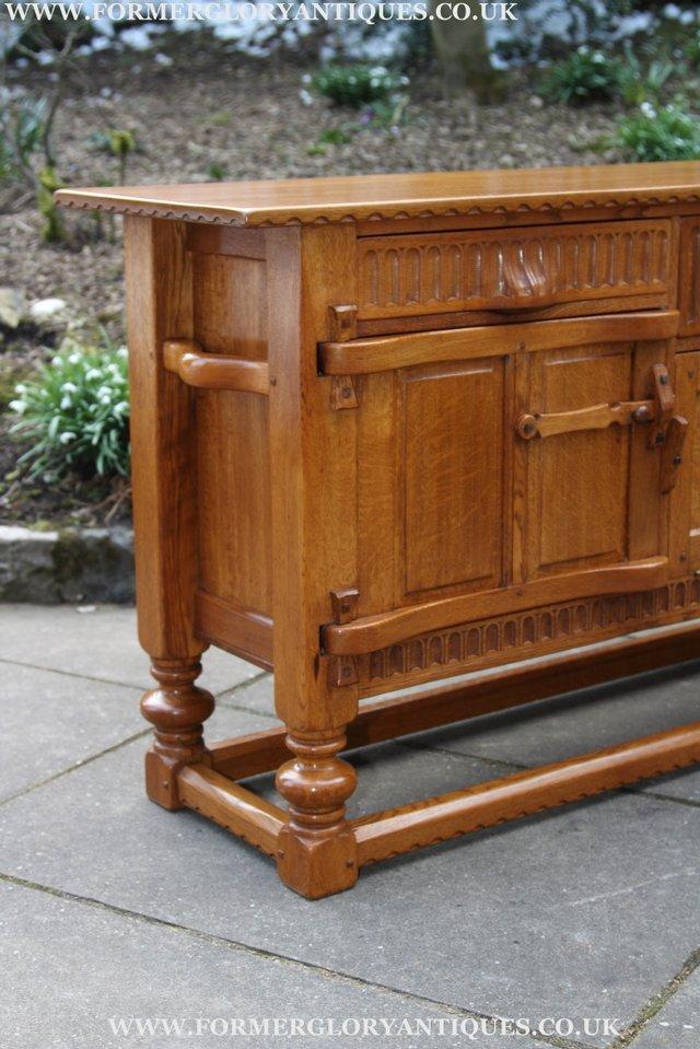 Image 43 of RUPERT NIGEL GRIFFITHS OAK DRESSER BASE SIDEBOARD TABLE