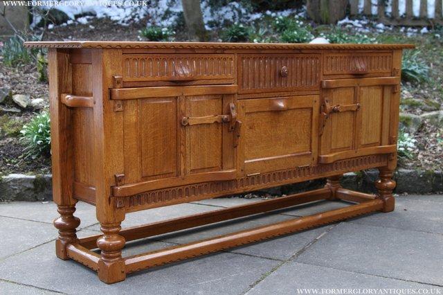 Image 46 of RUPERT NIGEL GRIFFITHS OAK DRESSER BASE SIDEBOARD TABLE