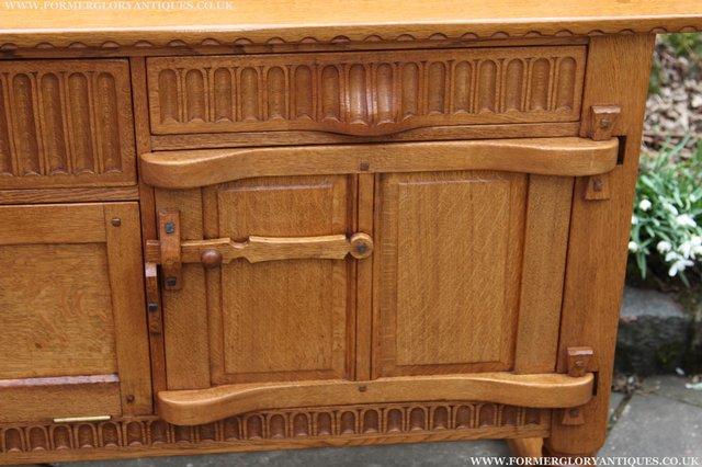 Image 47 of RUPERT NIGEL GRIFFITHS OAK DRESSER BASE SIDEBOARD TABLE