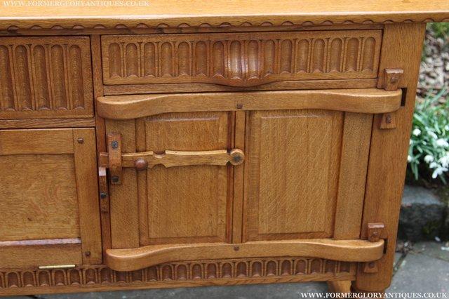 Image 51 of RUPERT NIGEL GRIFFITHS OAK DRESSER BASE SIDEBOARD TABLE