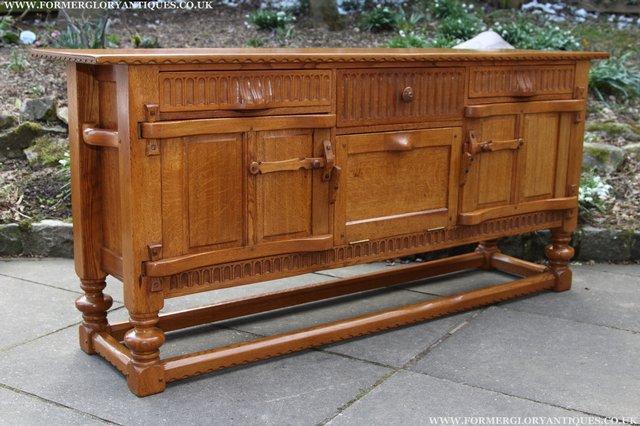 Image 54 of RUPERT NIGEL GRIFFITHS OAK DRESSER BASE SIDEBOARD TABLE