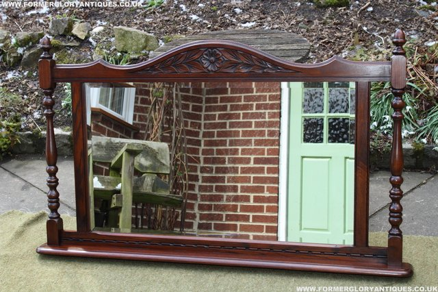 Preview of the first image of OLD CHARM OAK OVERMANTEL FIRE SURROUND SIDEBOARD HALL MIRROR.