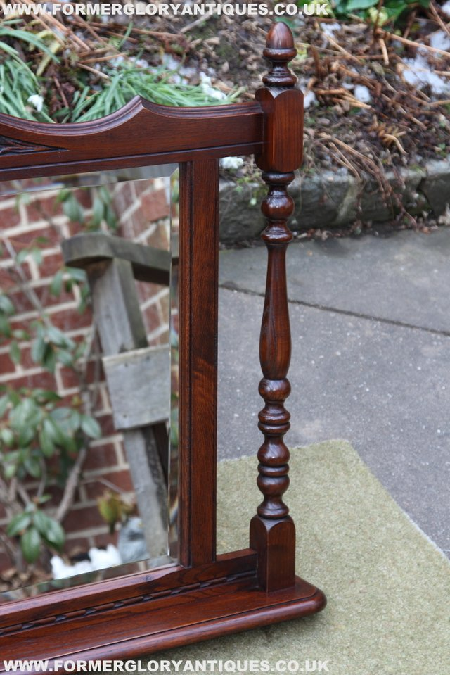 Image 8 of OLD CHARM OAK OVERMANTEL FIRE SURROUND SIDEBOARD HALL MIRROR