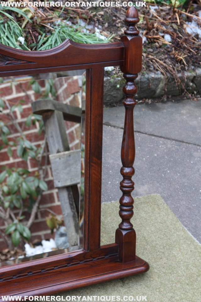 Image 10 of OLD CHARM OAK OVERMANTEL FIRE SURROUND SIDEBOARD HALL MIRROR