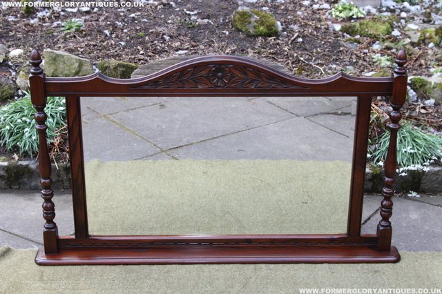 Image 16 of OLD CHARM OAK OVERMANTEL FIRE SURROUND SIDEBOARD HALL MIRROR