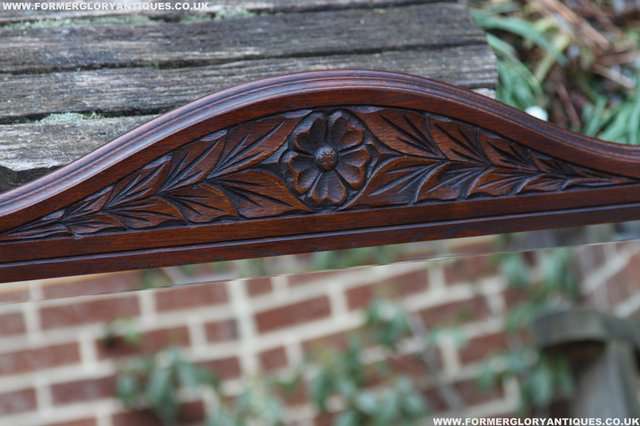 Image 19 of OLD CHARM OAK OVERMANTEL FIRE SURROUND SIDEBOARD HALL MIRROR
