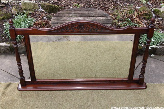 Image 21 of OLD CHARM OAK OVERMANTEL FIRE SURROUND SIDEBOARD HALL MIRROR