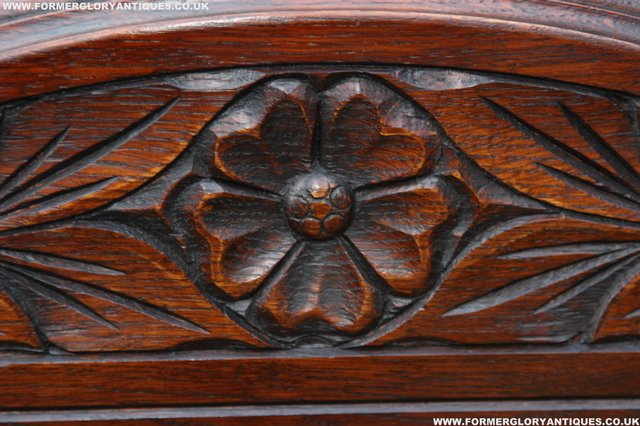 Image 27 of OLD CHARM OAK OVERMANTEL FIRE SURROUND SIDEBOARD HALL MIRROR