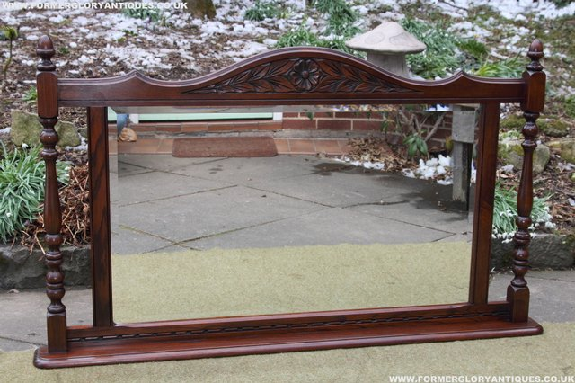 Image 29 of OLD CHARM OAK OVERMANTEL FIRE SURROUND SIDEBOARD HALL MIRROR