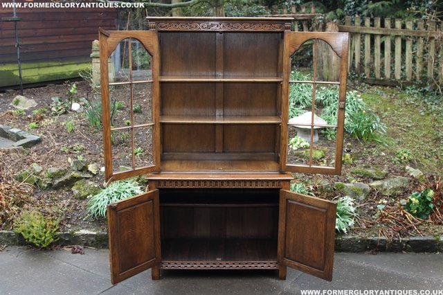 Image 2 of TITCHMARSH GOODWIN STYLE BOOKCASE DISPLAY CABINET CUPBOARD