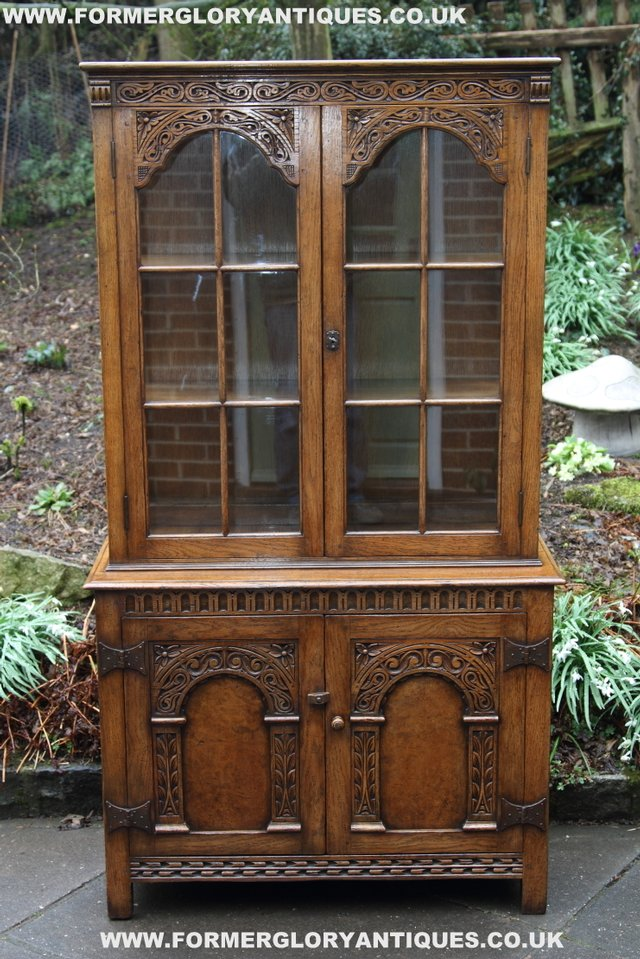 Preview of the first image of TITCHMARSH GOODWIN STYLE BOOKCASE DISPLAY CABINET CUPBOARD.