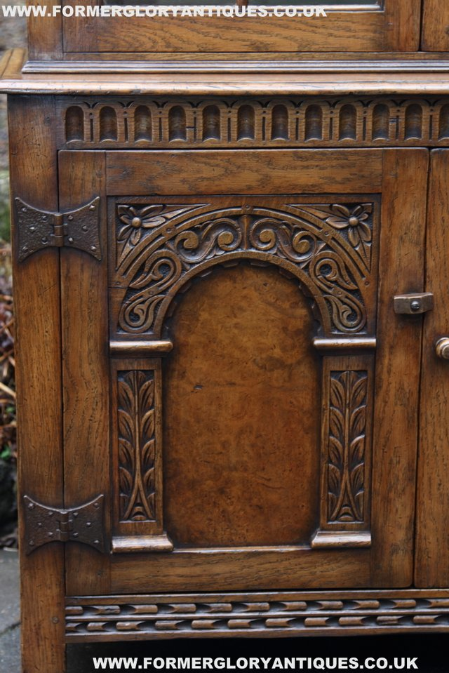 Image 5 of TITCHMARSH GOODWIN STYLE BOOKCASE DISPLAY CABINET CUPBOARD
