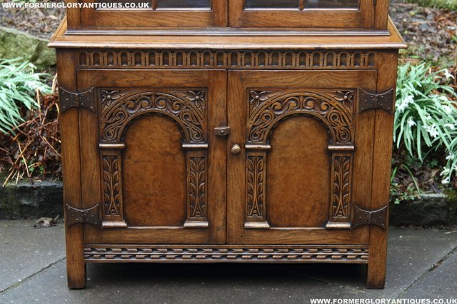 Image 6 of TITCHMARSH GOODWIN STYLE BOOKCASE DISPLAY CABINET CUPBOARD