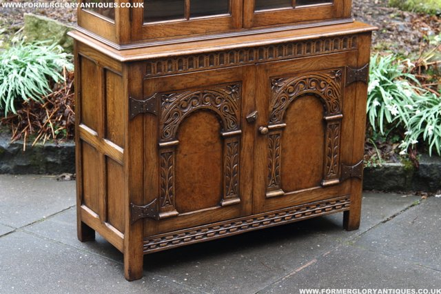Image 7 of TITCHMARSH GOODWIN STYLE BOOKCASE DISPLAY CABINET CUPBOARD