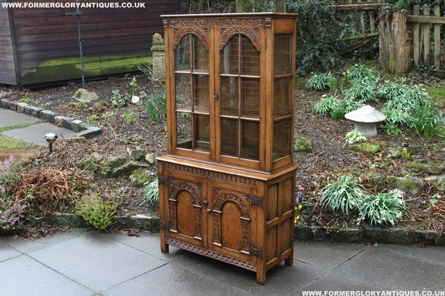 Image 8 of TITCHMARSH GOODWIN STYLE BOOKCASE DISPLAY CABINET CUPBOARD