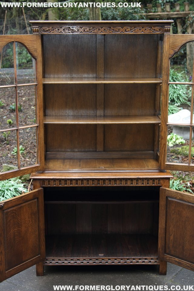 Image 9 of TITCHMARSH GOODWIN STYLE BOOKCASE DISPLAY CABINET CUPBOARD