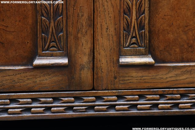 Image 16 of TITCHMARSH GOODWIN STYLE BOOKCASE DISPLAY CABINET CUPBOARD