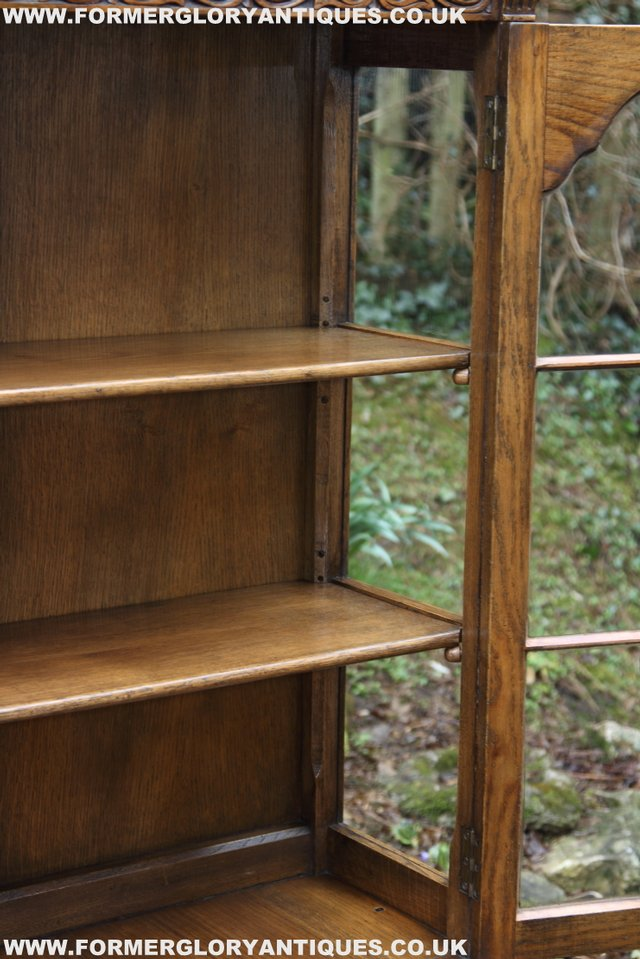 Image 17 of TITCHMARSH GOODWIN STYLE BOOKCASE DISPLAY CABINET CUPBOARD