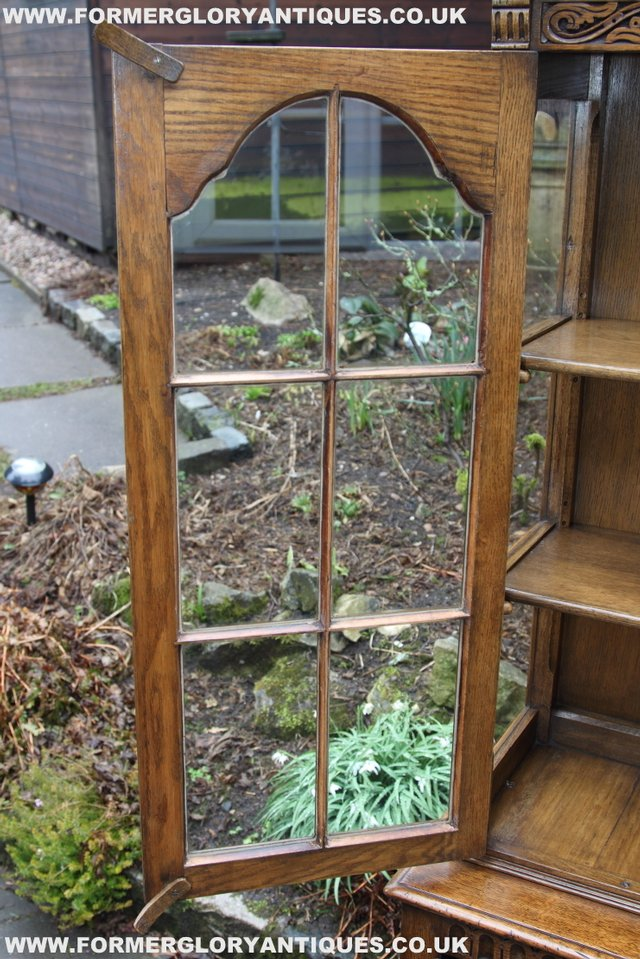 Image 23 of TITCHMARSH GOODWIN STYLE BOOKCASE DISPLAY CABINET CUPBOARD