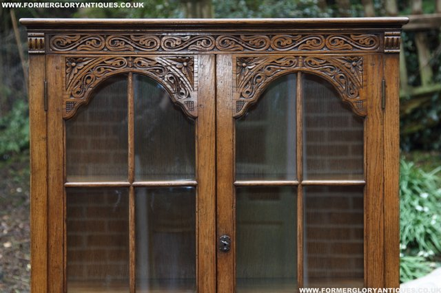 Image 24 of TITCHMARSH GOODWIN STYLE BOOKCASE DISPLAY CABINET CUPBOARD