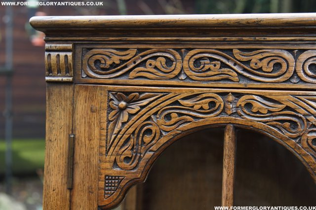 Image 25 of TITCHMARSH GOODWIN STYLE BOOKCASE DISPLAY CABINET CUPBOARD