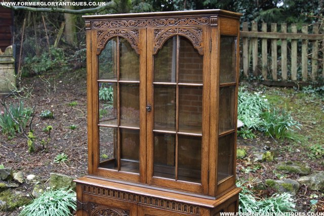 Image 26 of TITCHMARSH GOODWIN STYLE BOOKCASE DISPLAY CABINET CUPBOARD