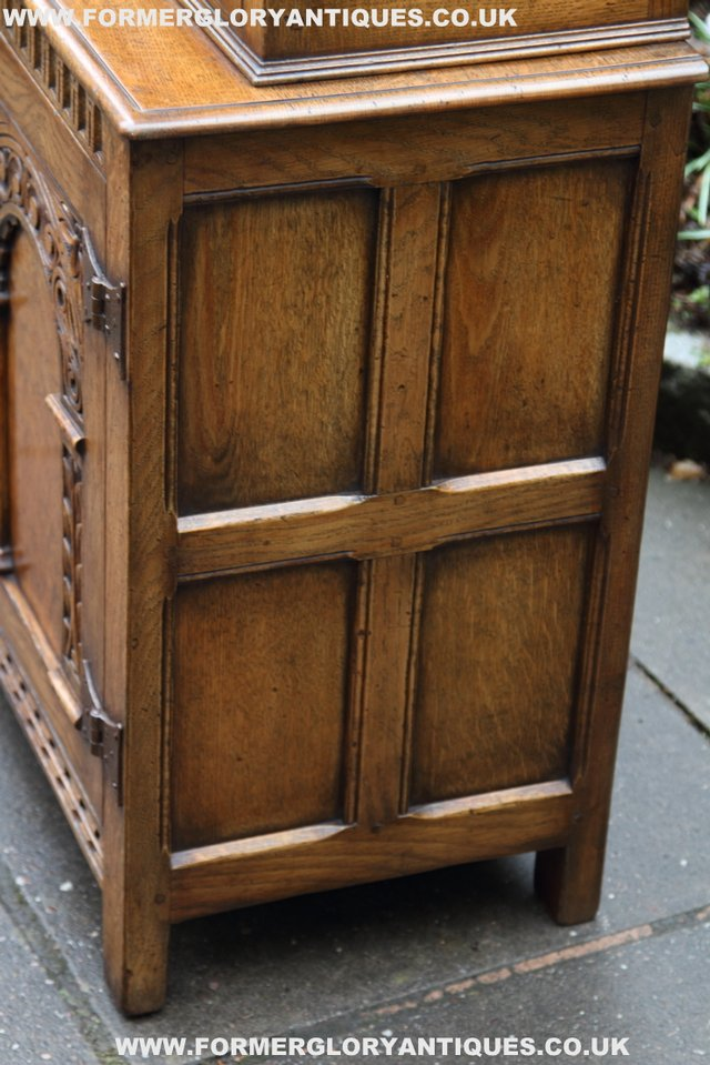 Image 28 of TITCHMARSH GOODWIN STYLE BOOKCASE DISPLAY CABINET CUPBOARD
