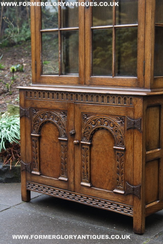 Image 30 of TITCHMARSH GOODWIN STYLE BOOKCASE DISPLAY CABINET CUPBOARD