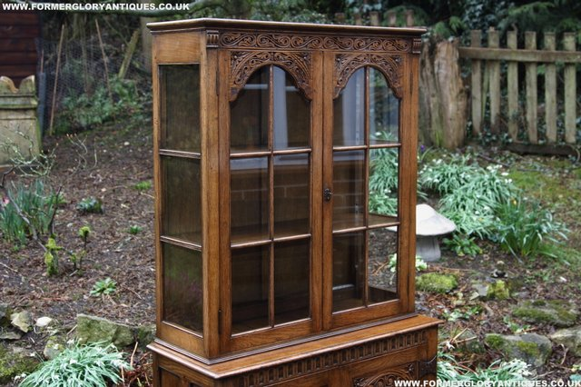 Image 34 of TITCHMARSH GOODWIN STYLE BOOKCASE DISPLAY CABINET CUPBOARD
