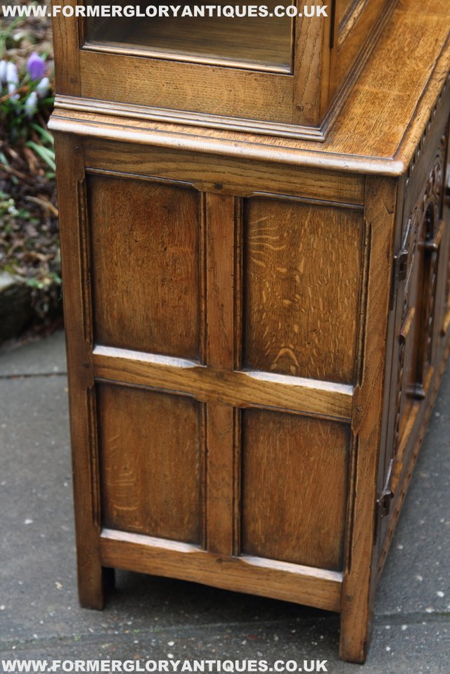 Image 35 of TITCHMARSH GOODWIN STYLE BOOKCASE DISPLAY CABINET CUPBOARD