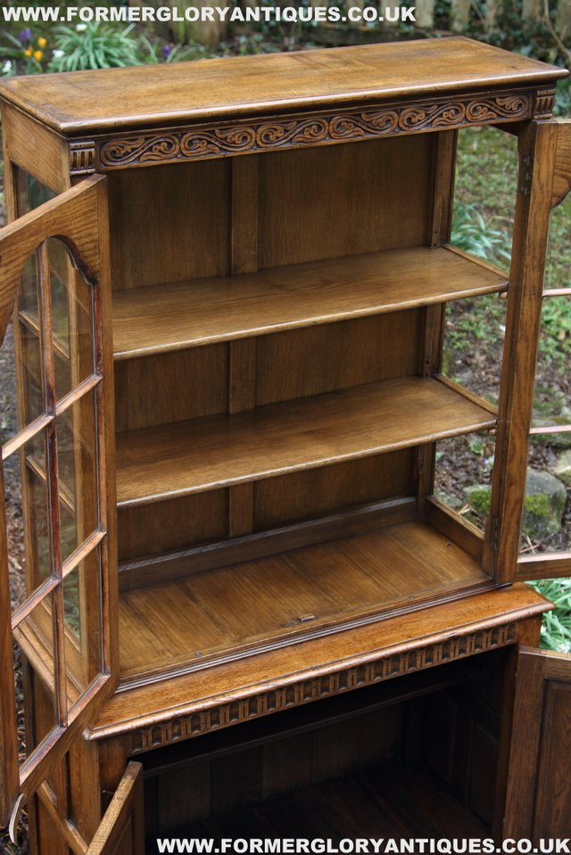 Image 36 of TITCHMARSH GOODWIN STYLE BOOKCASE DISPLAY CABINET CUPBOARD