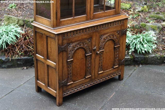 Image 37 of TITCHMARSH GOODWIN STYLE BOOKCASE DISPLAY CABINET CUPBOARD